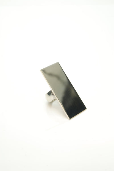 Rectangle Mirror Ring