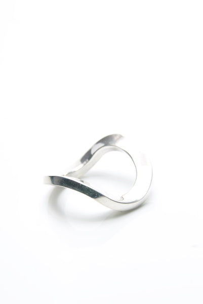 Simply Awry Silver Ring