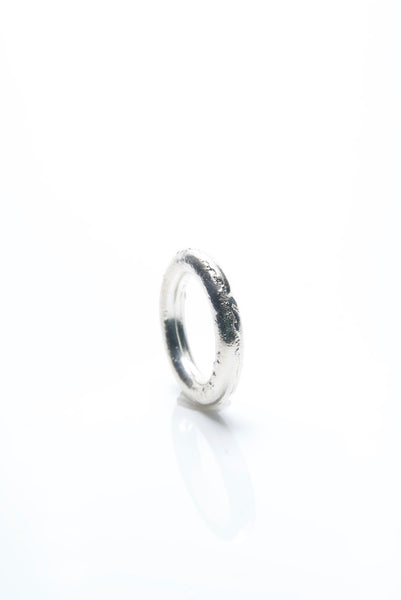 Round Sand Cast Silver Ring