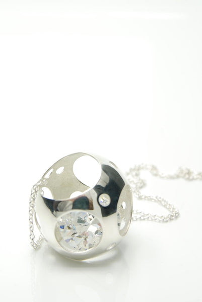 Space Ball Silver Pendant
