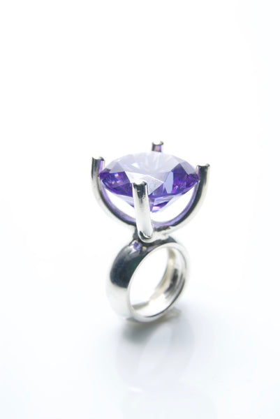 Lavender Jewel Silver Ring
