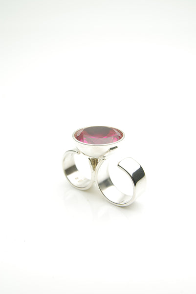 Two Finger Ruby Ring