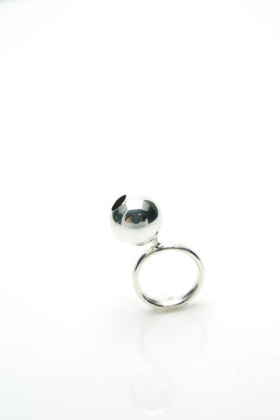 Jiggly Silver Ball Ring