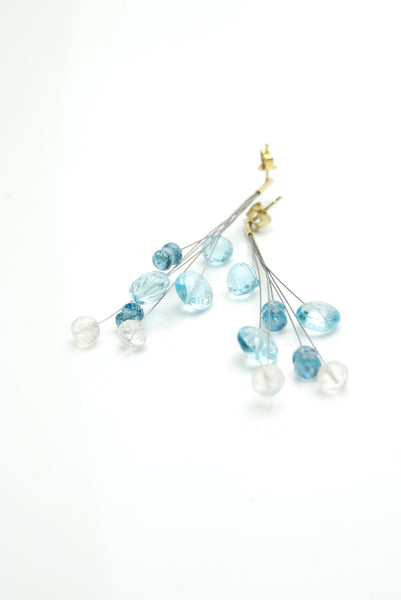 Topaz & Moon Stone Earrings