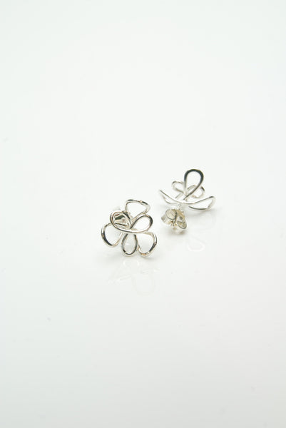 Flora Silver Earrings