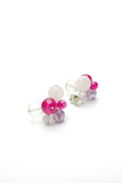 Pink Inflorescence Earrings by Orr
