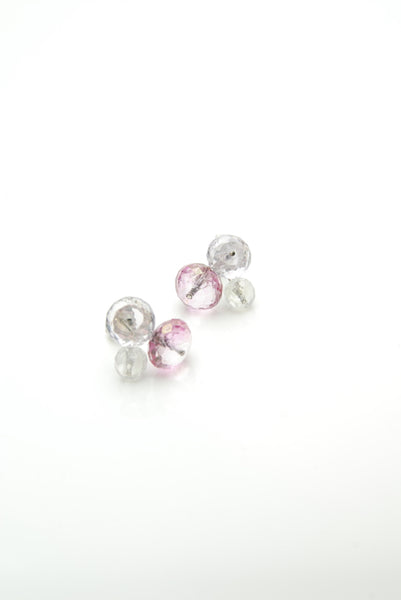Inflorenscence White Gold Earrings