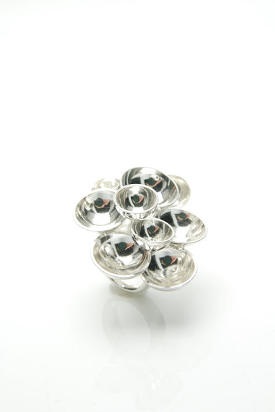 Silver Bubbles Cocktail Ring