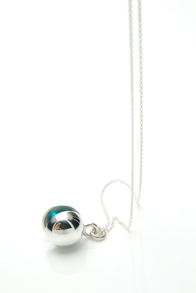 Blue Ball Silver Pendant