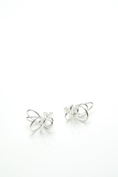 Swiwel Silver Earrings