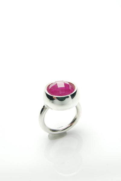 Laus Ruby & Silver Ring
