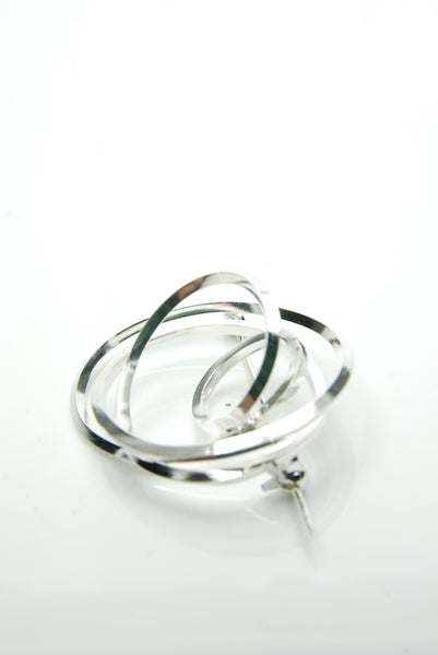 Swivel Silver Brooch
