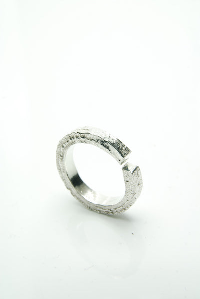 Rough & Refined Silver Ring