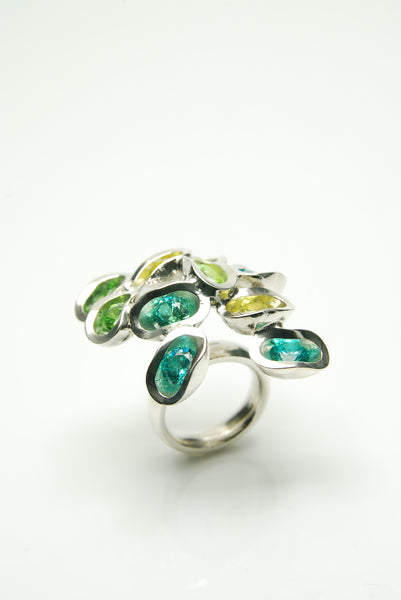 Blue & Green Ringul Ring