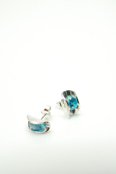 Moules Bleues Silver Earrings