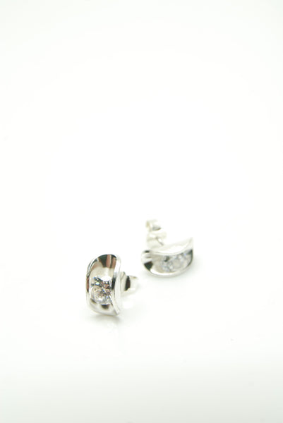 Moules Blanches Silver Earrings