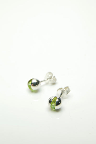 Apple-green Ball Earrings