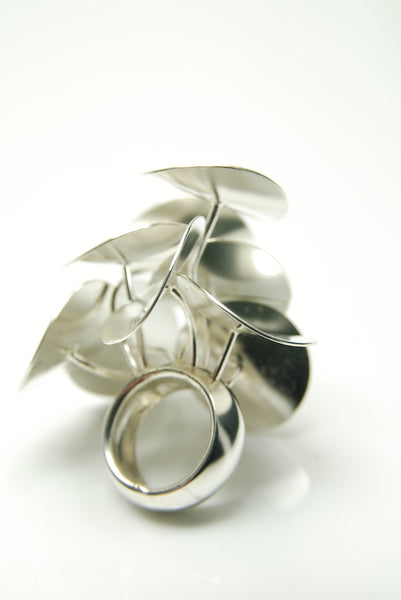 Nymphaeaceae Silver Ring
