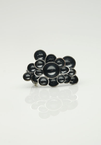 Black Bubbles Cocktail Ring