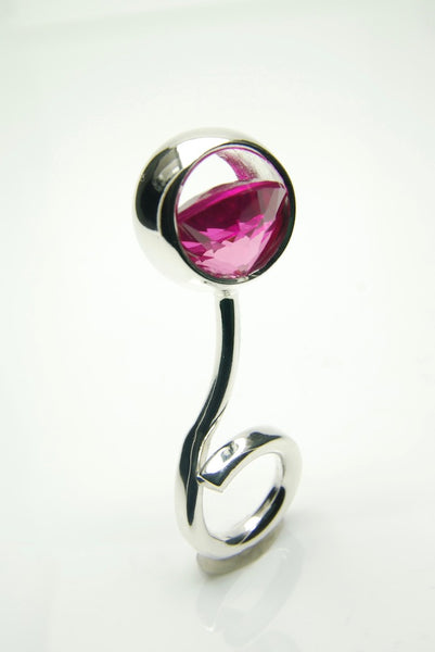 Monocle Ruby & Silver Ring