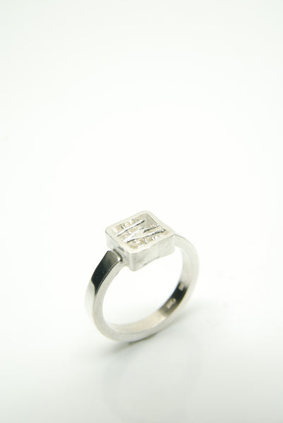 Mens Nest Silver Ring