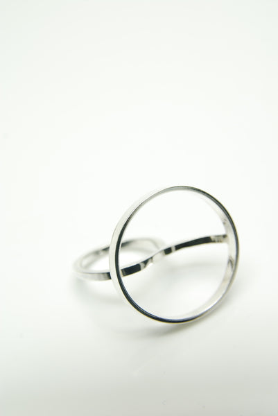 Silver Monocle Ring