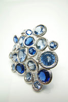Sea of Blue Spinel Silver Ring