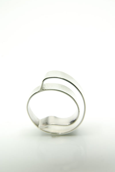 Organic Abstraction Silver Ring