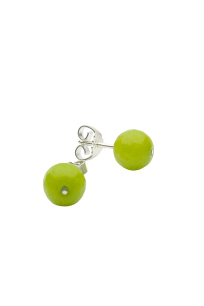 Chartreuse Green Silver Earrings