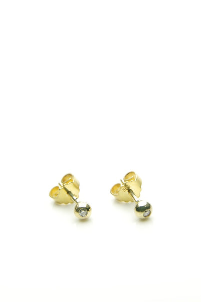 Organic Diamond & Gold Studs