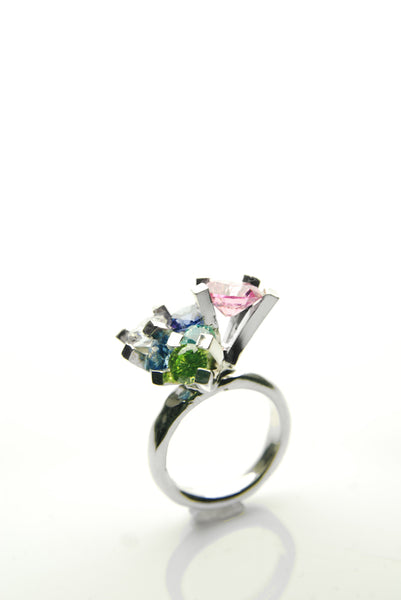 Assortment of Refined Jewels Silver Ring