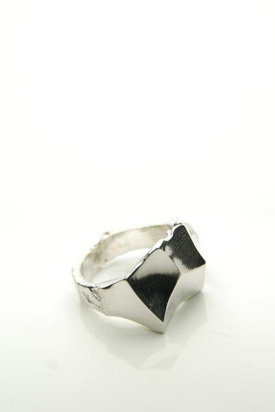 Polished as a Rock Silver Ring