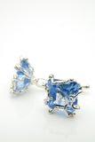Blue Spinel Silver Cufflinks
