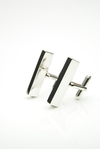 Elongated Silver Cufflinks