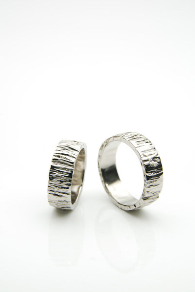 Form White Gold Engagement Bands