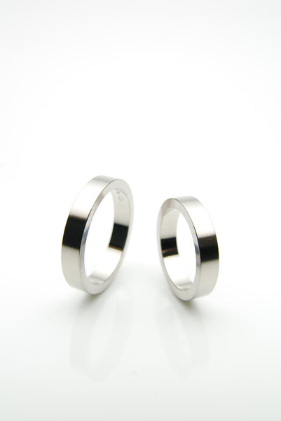 Form Fine White Gold Bands