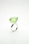 Orr Apple Green Silver Ring