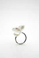 Perla Split Silver Ring by Orr