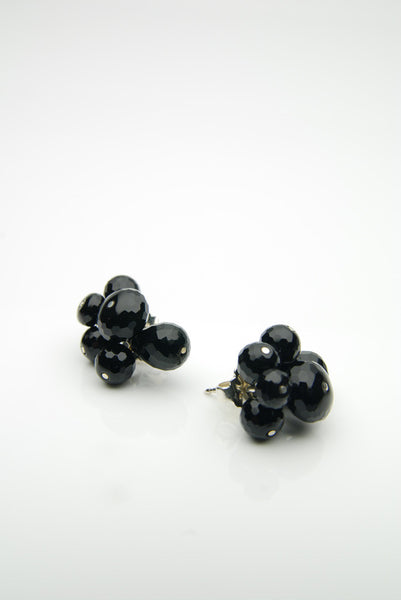 Onyx Silver Earrings by Orr