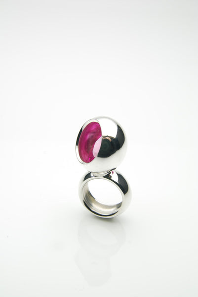 Laus Silver Ruby Ring by Orr