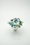 Ringul Sea of Green Silver Ring
