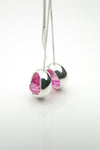 Laus long ruby earrings