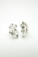 Silver Cubes Earrings by Orr