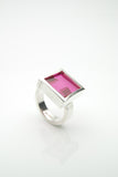 Kubbur Silver Ruby Ring