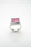 Kubbur Silver & Ruby Ring