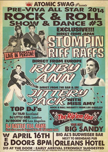 Atomic Swag Presents Rock & Roll Dance Party with Stompin Riff Raffs, Ruby Ann, Jittery Jack at the Orleans Hotel Pre-Viva Las Vegas Rockabilly Party