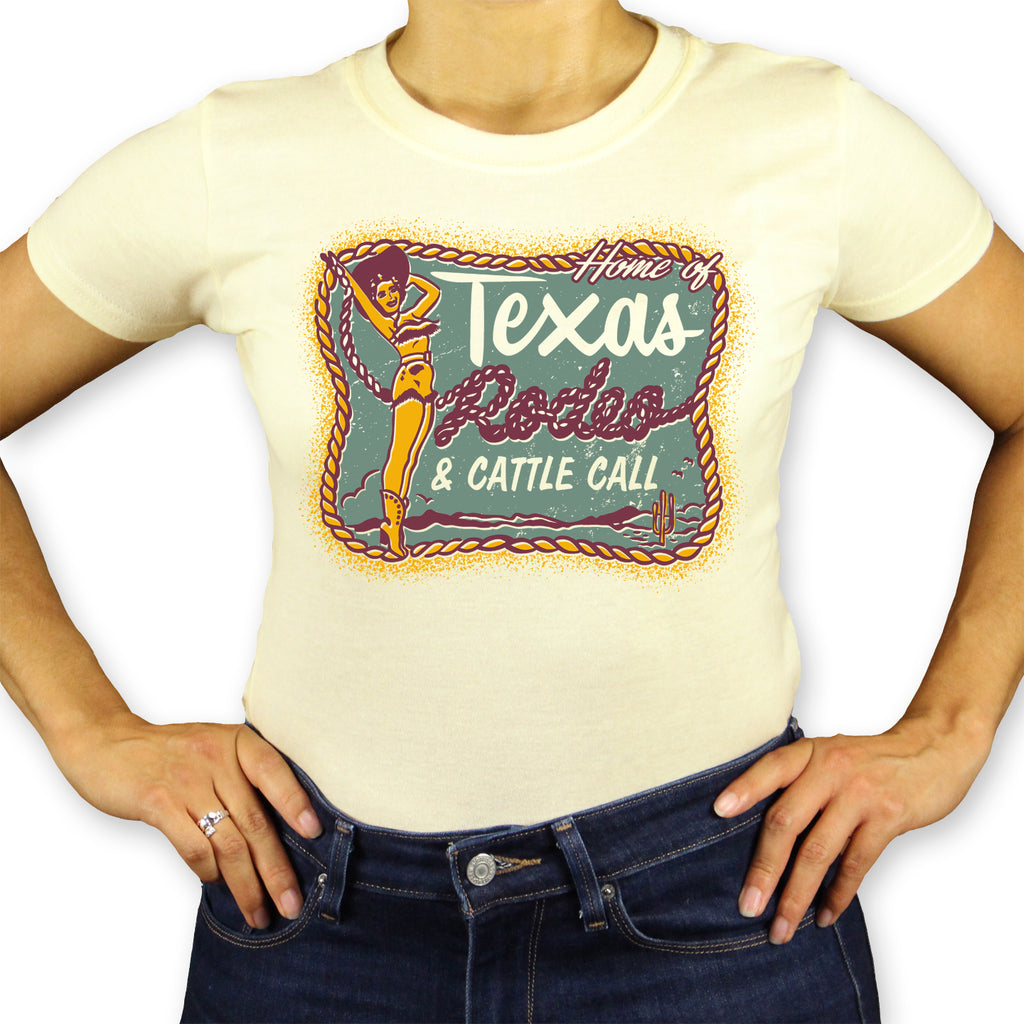 Texas Cattle Call Ladies T-Shirt