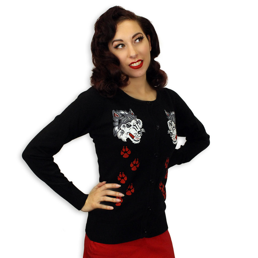 Big Bad Wolf Ladies Sweater Cardigan