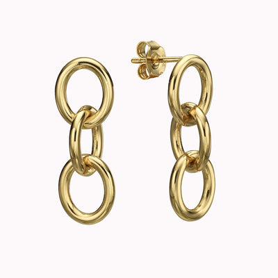 Chain Earrings Earrings Gold Vermeil Yellow Gold Vermeil
