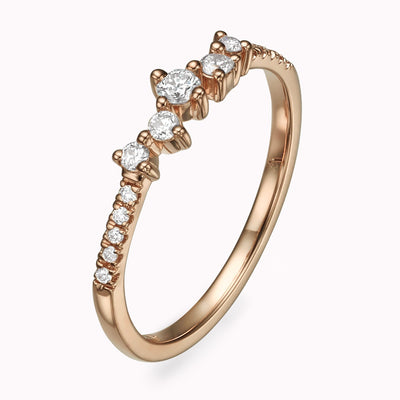 Cluster Diamond Ring - Magal jewelry